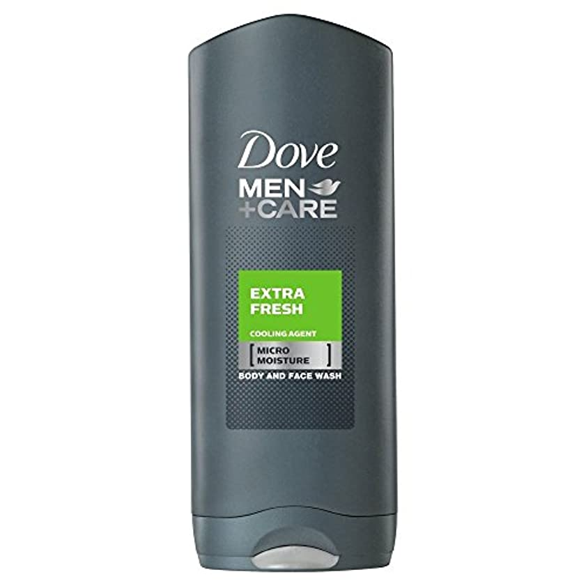 Dove Men + Care Body & Face Wash - Extra Fresh (250ml) 鳩の男性は+ボディと洗顔ケア - 余分な新鮮な( 250ミリリットル)を [並行輸入品]