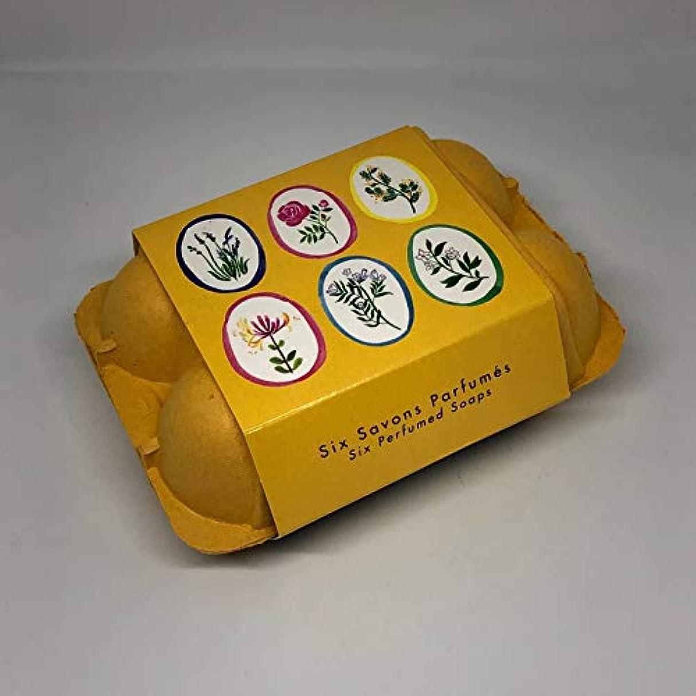 煩わしい懺悔上にフラゴナール Fragonard 卵型ソープセット 50g×6個 フランス直輸入 イエロー