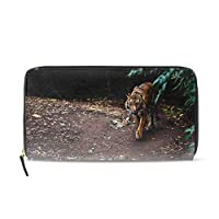 野生の猫のチーター動物レディース 長財布 大容量 おしゃれ 小銭入れ カード レシート仕分け コンパクト 華やか ボタン 人気 プレゼント