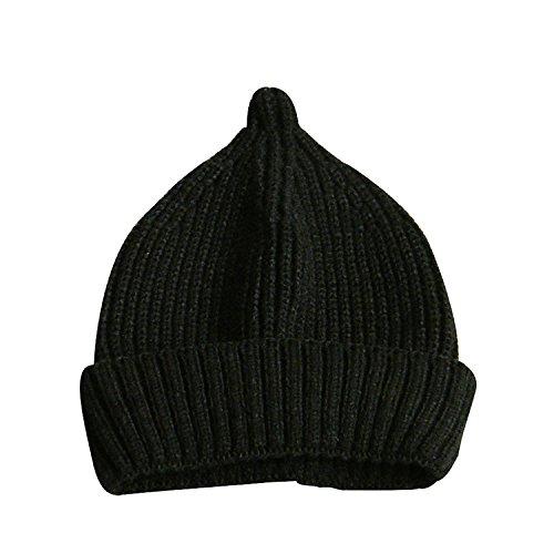 とんがりニット帽 子供帽子 ベビーニットハット おしゃぶり型...