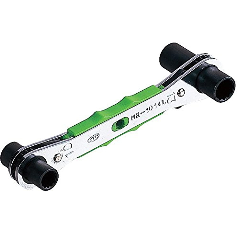 【KTC工具】 4サイズ板ラチェットレンチ (ロング) (10X13-12X14 mm) / MR-1014L
