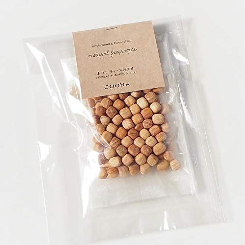 副産物頼む青写真ヒノキ ウッド& エッセンシャルオイル ナチュラルフレグランス (オーガンジーバッグ付き, フルーティースパイス)