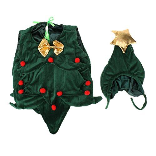 【ノーブランド 品】赤ちゃん クリスマスツリー柄 撮影 記念...