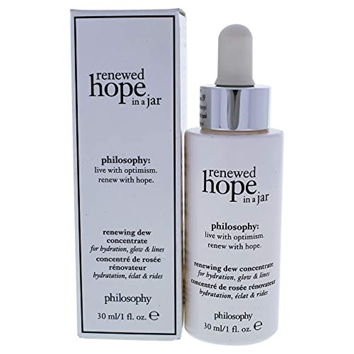 コロニアルキャップ受賞フィロソフィー Renewed Hope In A Jar Renewing Dew Concentrate - For Hydrating, Glow & Lines 30ml/1oz並行輸入品