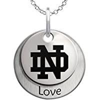 CollegeジュエリーUniversity of Notre Dame Fighting Irish Love重ねネックレス