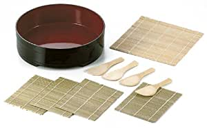 パール金属  漆器彩 手巻き寿司10点セット D-482
