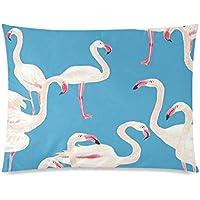 おしゃれフラミンゴ柄シンプルで可愛い枕カバー 防縮ピローケース インテリア