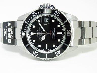 Technos(テクノス) テクノス 自動巻き回転ベゼルメンズウオッチ メンズ腕時計 ブラック(T4248TN)
