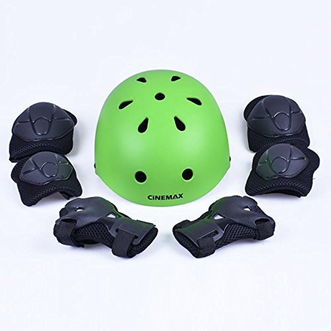 持続的マトロンメダリストZX 子 自転車に乗る 移動 ローラースケート アイススケート 男と女 調節可能な ヘルメット 保護装置 7個セット (色 : 5)