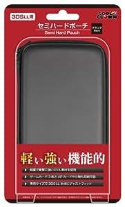 (New3DSLL/3DSLL用)セミハードポーチ(ブラック)