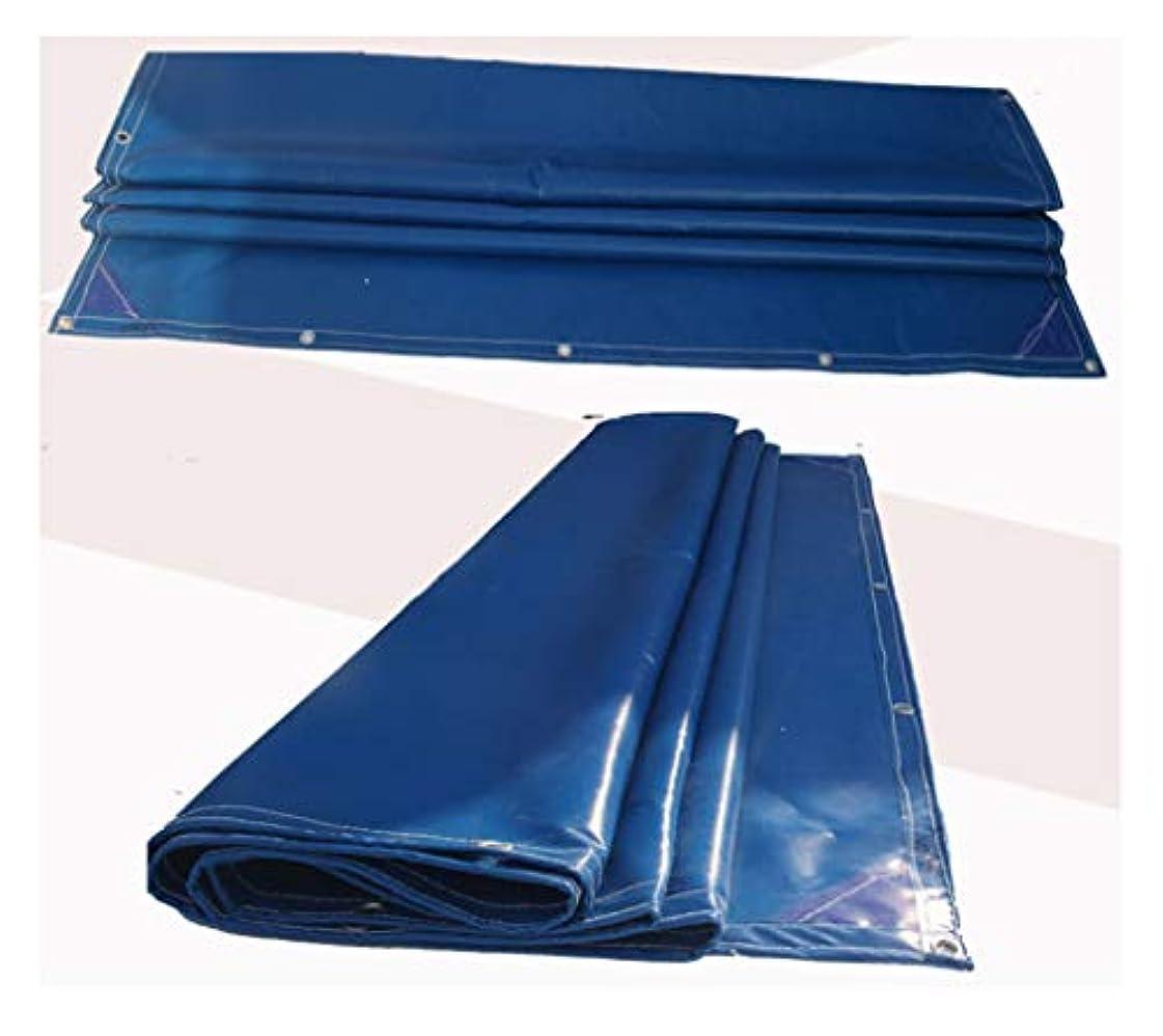 安価な縁石ミネラル遮光ネット 防水布防水布ターポリン赤い青色屋外の家具ピクニック車キャンプ/複数のサイズがあります 迷彩ネット屋外隠しテント (色 : 青, サイズ さいず : 5m*6m)