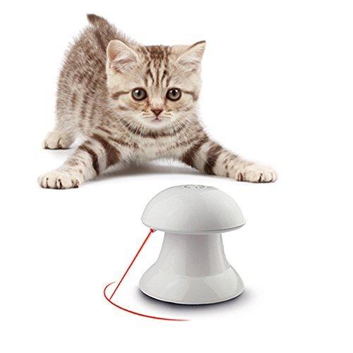 FIRIK(フィリク)ペット用品 猫用光るおもちゃ 自動的に回転できる LEDポインター スピード調整 トレーニング