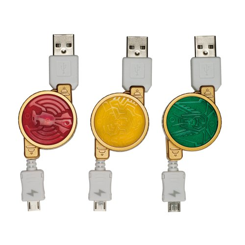 PLANEX コアメダル型スマートフォン・携帯電話充電用巻き取りケーブル&変換アダプタ (タトバコンボ) BN-OOO-TTB