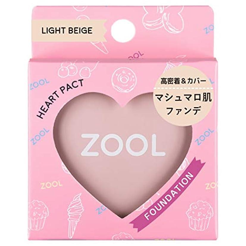 しっとり投資利用可能ZOOL (ズール) ハートパクト ライトベージュ (ファンデ) (1個)