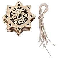 【ノーブランド品】クリスマス ツリー 装飾 飾り ぶら下げ 小物 飾りつけ ギフト DIY パーティー 木製 ベル型