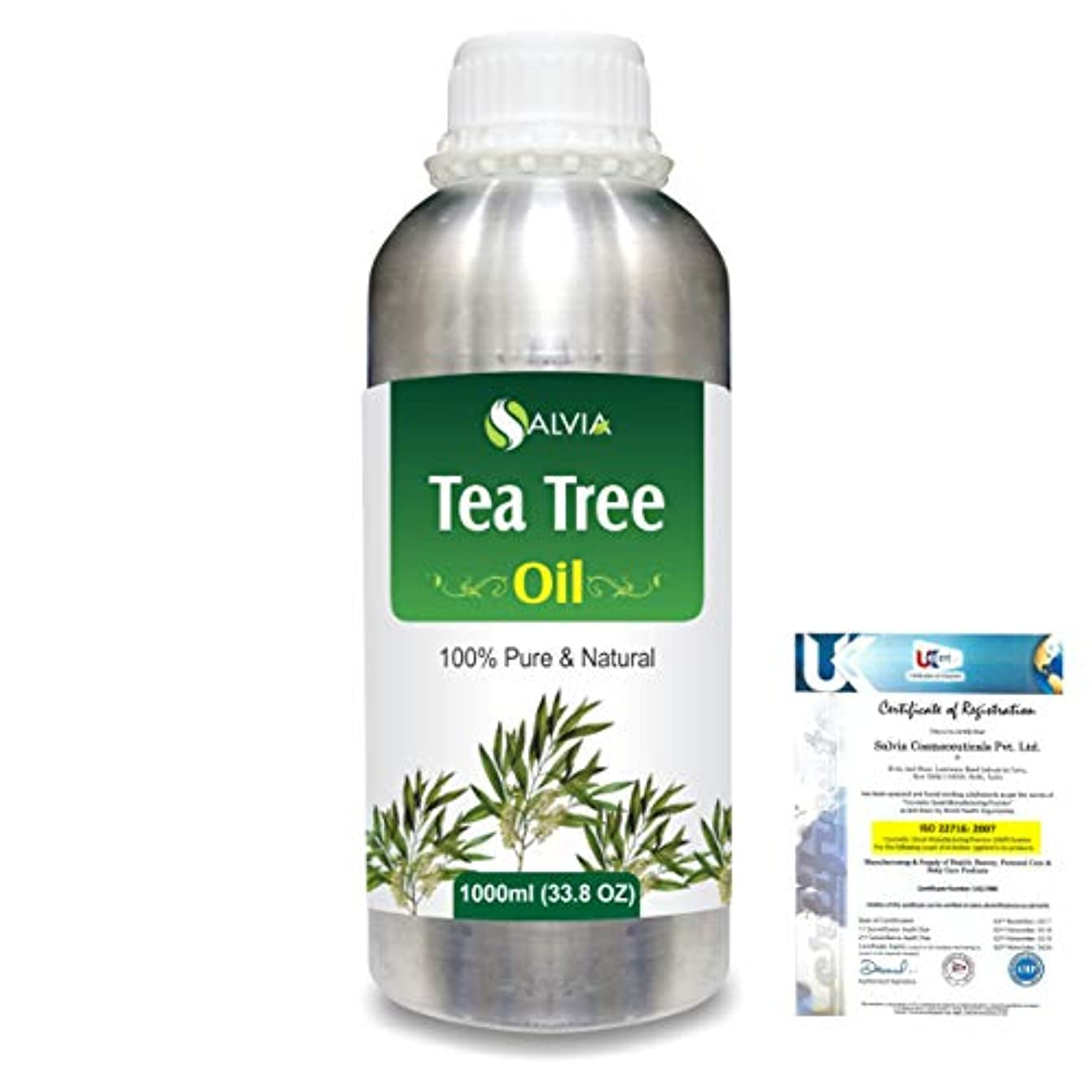 店員コード課すTea Tree (Melaleuca alternifolia) 100% Natural Pure Essential Oil 1000ml/33.8fl.oz.