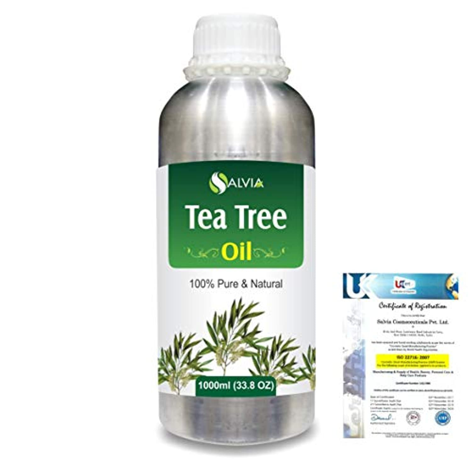 コミットヘルシー隣接Tea Tree (Melaleuca alternifolia) 100% Natural Pure Essential Oil 1000ml/33.8fl.oz.