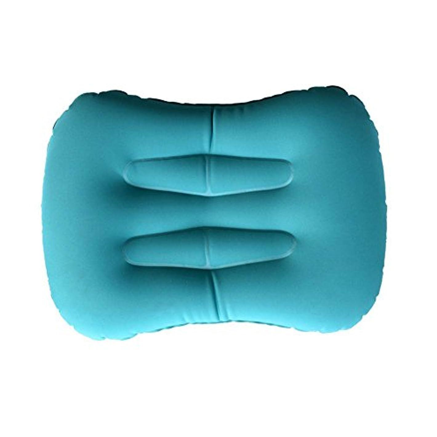 甘くする無しまたはNrpfell 超軽量インフレータブル旅行/キャンプ用枕 - 圧縮性、コンパクト、インフレータブル、快適、人間工学的な枕、首?腰部のサポートと快適な夜の睡眠キャンプ用(青)