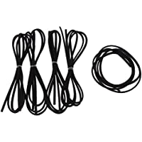 FITYLE 1 Meter Leather Cord Strings for Bracelet Necklace Beading Jewelry Making - Black