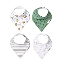 Copper Pearl, Baby Bandana Drool Bibs for Drooling and Teething 4 Pack Gift Set