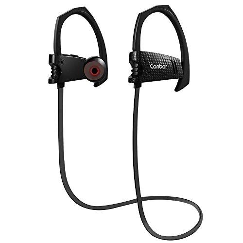 Canbor Bluetooth イヤホン ワイヤレスイヤホン ブルートゥース イヤホン スポーツ ヘッドセット Bluetooth 4.1 IPX5 防水 高音質 マイク内蔵 スポーツ仕様 ノイズキャンセリング iPhone Androidなど対応 ブラック