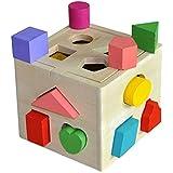 13 Holes Children Educational Box Wooden Building Blocks Toddler Geometric Pairing Toys Learning Tool Kakiyi