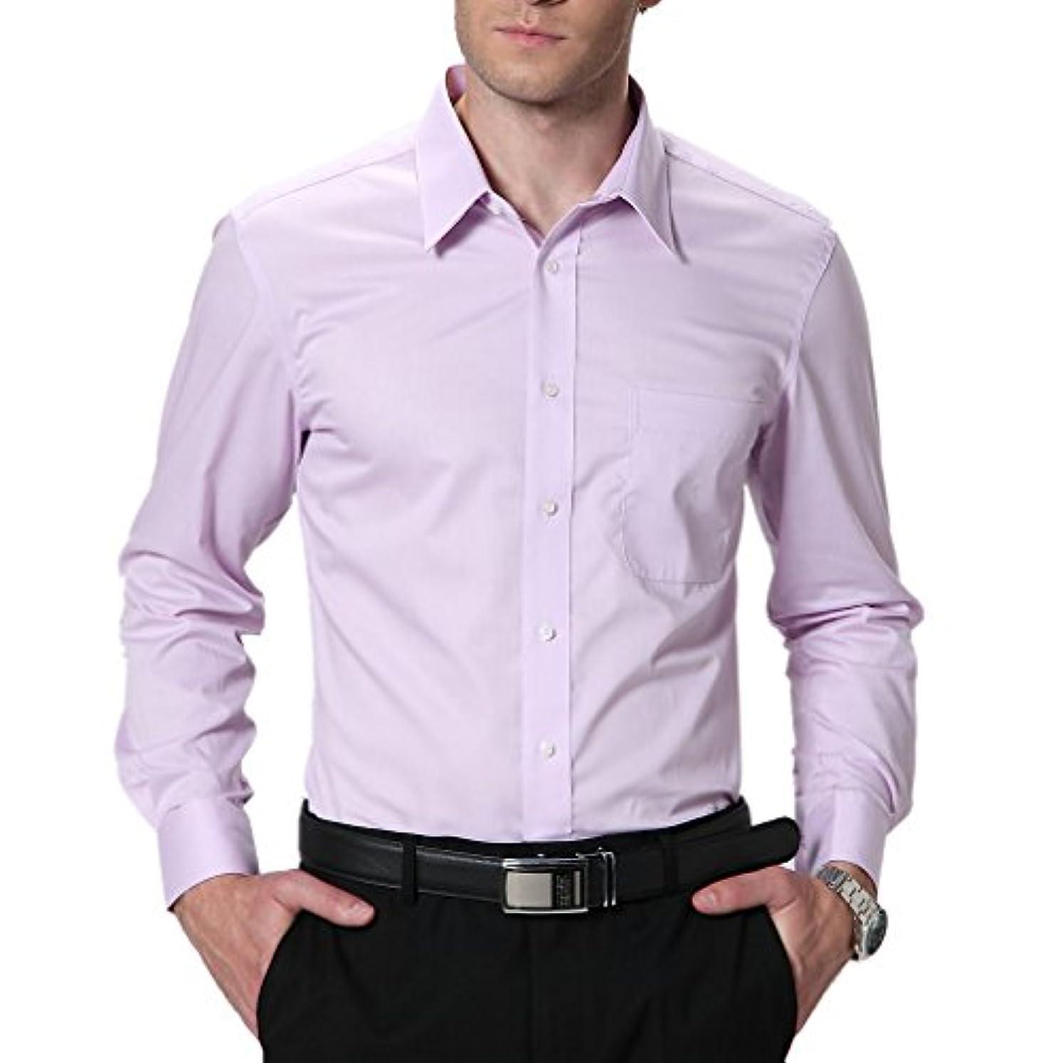 つなぐ珍しい傑出したHonghuメンズワイシャツ形態安定加工ノーアイロン耐久性も問題ないサイズもピッタリ婚冠葬祭で着れます