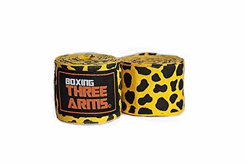 THREE ARMS ボクシング バンテージ グローブ 2個1セット 伸縮 タイプ 450cm レオパード