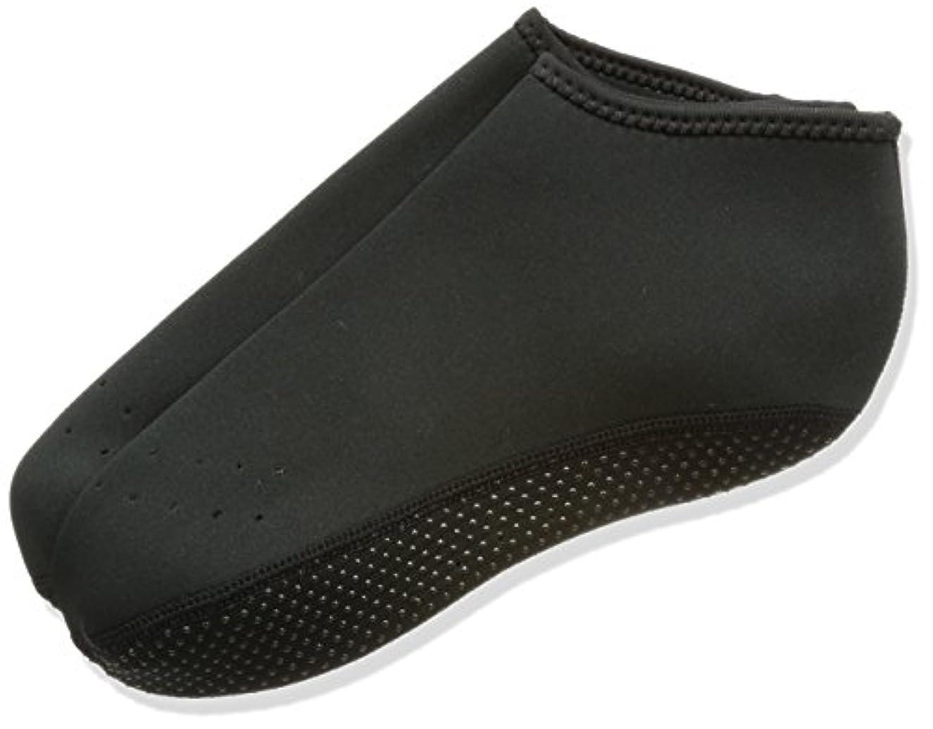 誓い挨拶する技術ウェットスーツ素材で保温性抜群 靴下の上から履ける 防寒ソックス 防寒靴下 インナーソックス [ショート 丈] (M (24.0~25.0cm))