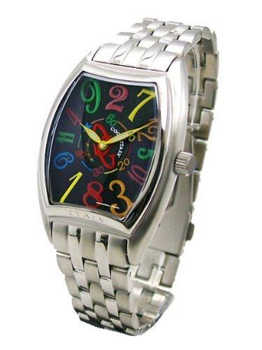 COGU(コグ) ジャンピングアワー(クレイジーアワー) 機械式腕時計(黒文字盤/カラー・男性用) JH4M-BKC