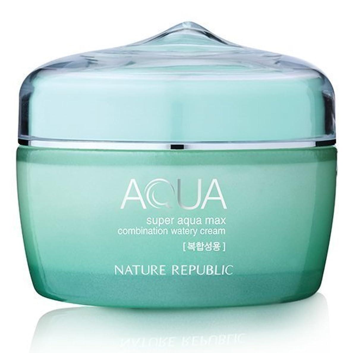 明るくする忘れっぽいコロニーNature Republic Super Aqua Max Combination Watery Cream 80ml