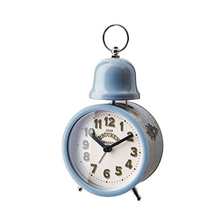 インターフォルム 置時計 ヴィドール Vidor インダストリアル調 アラーム ブルー CL-1277