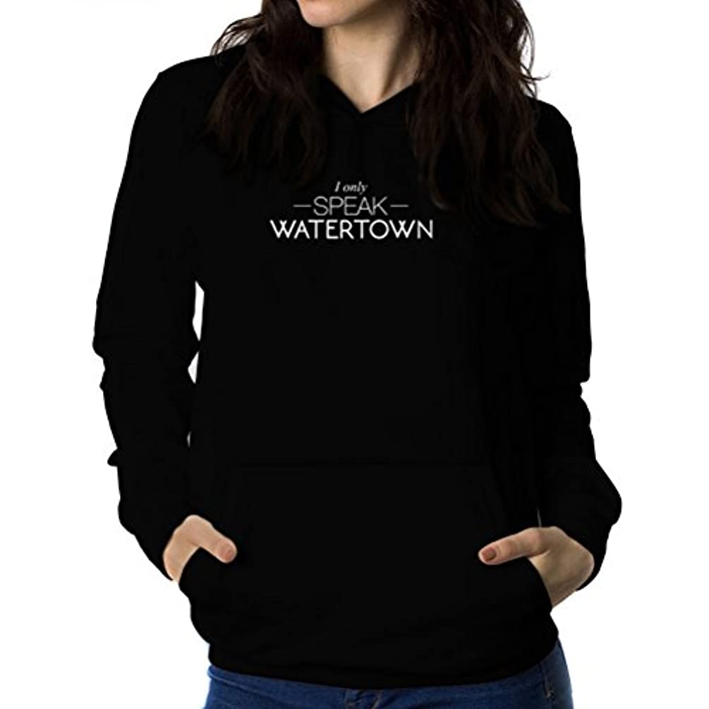 日付パートナー行政I only speak Watertown 女性 フーディー