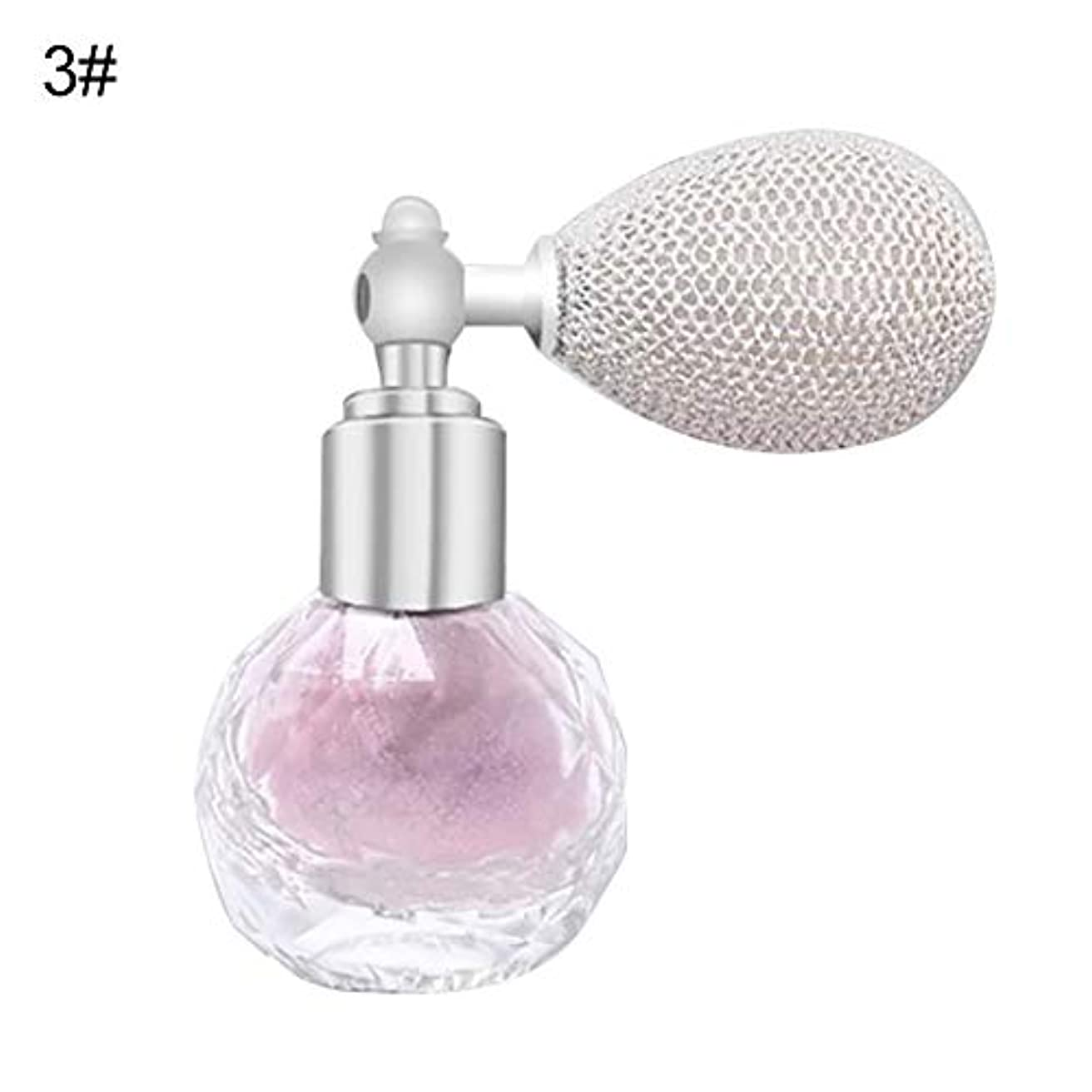 光承認愛国的なFANA女性エアバッグスプレーフレグランスグリッターハイライトパウダー美容化粧品 - 3#