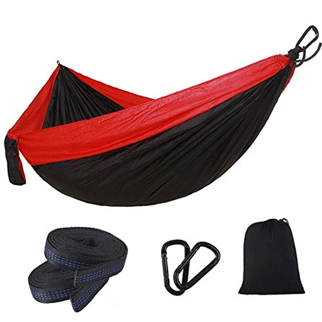 前提条件追い払うユーザーSummerys 長い屋外のキャンプ用品スイングを増やすためにカラーマッチングナイロンパラシュート布ダブルハンモック (Color : 3)