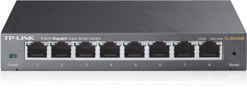 TP-Link  アンマネージプラススイッチ ギガ対応 10/100/1000Mbps 8ポート 管理機能付 無償永久保証 TL-SG108E