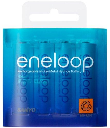 SANYO eneloop ニッケル水素電池 単3形 4本パック HR-3UTG-4BP