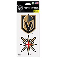 """WinCraft Vegas Golden Knights 4"""" x 4"""" Perfectカット2- Packデカールセット"""