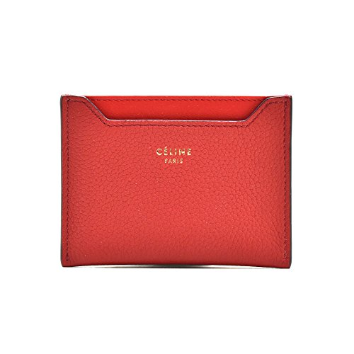 セリーヌ CELINE 10781 3AQI/27ED カードケース カーフスキン 赤 レッド レディース [並行輸入品]