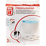 Dogit Fresh & Clear Drinking Fountain, Elevated Dog Water Dispenser, Filters