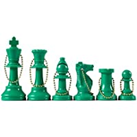 Wholesale Chess - Chess Pieces Keychain Set (Green) by Wholesale Chess [並行輸入品]