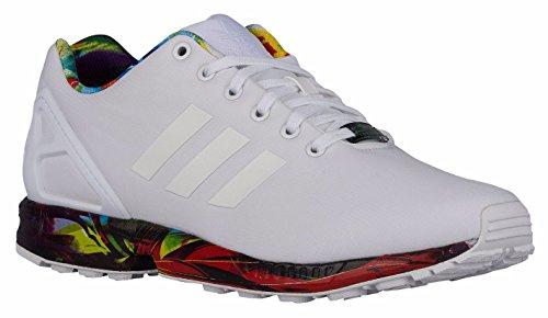 [アディダスオリジナルス] adidas Originals ZX Flux White/White/Blue スニーカー 白 [並行輸入品] (28.0cm(US10.0))