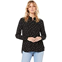 French Connection Women's Heart CORE Shirt, Black/White