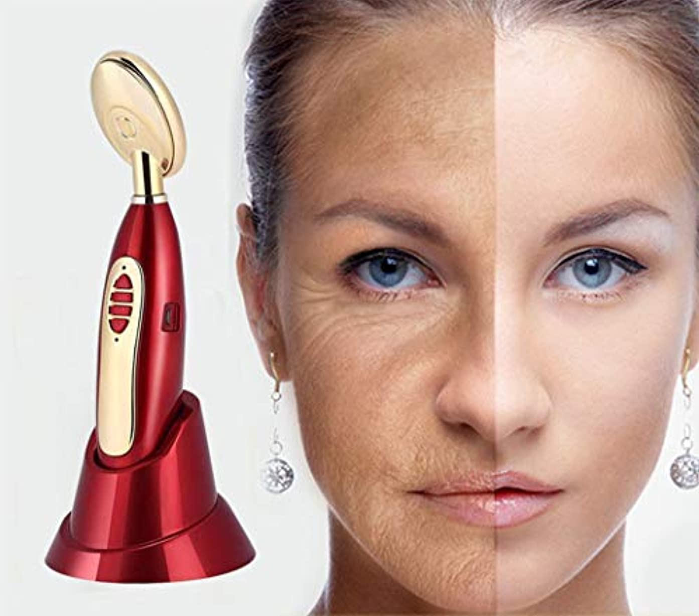 静けさすり減るハブブ美容機器電気顔と目の皮膚引き締め機負イオンスキンエッセンス振動マッサージ USB しわ除去デバイス美容機器暗い円を削除します。