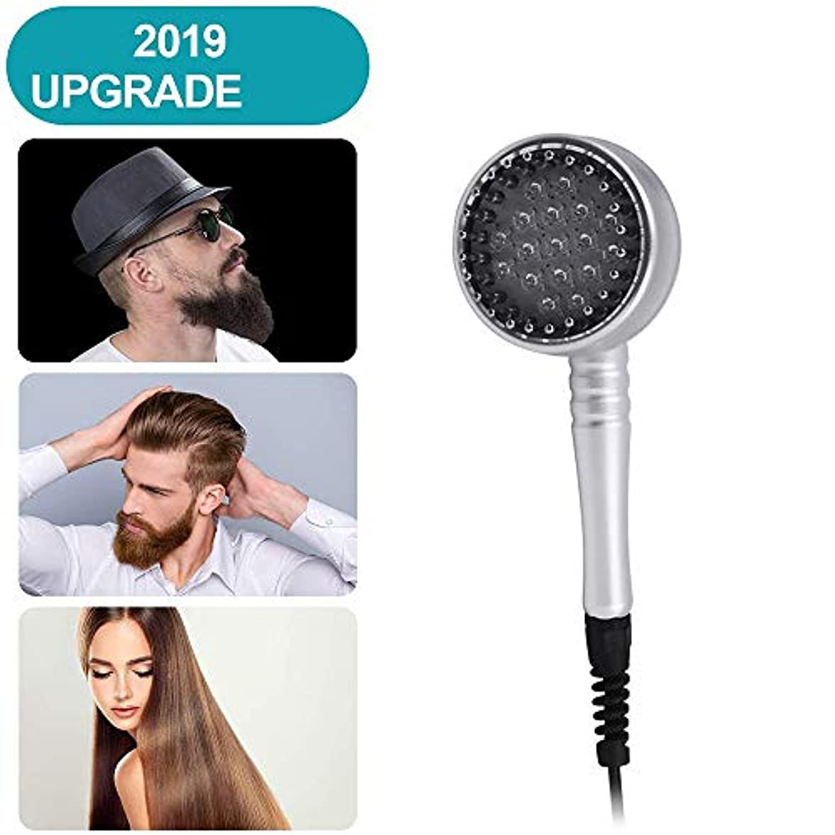普通の挽く悪化させる毛の成長くし、男性&女性のための赤外光や振動セラピー、再成長髪のマッサージブラシ付き電動発毛くし