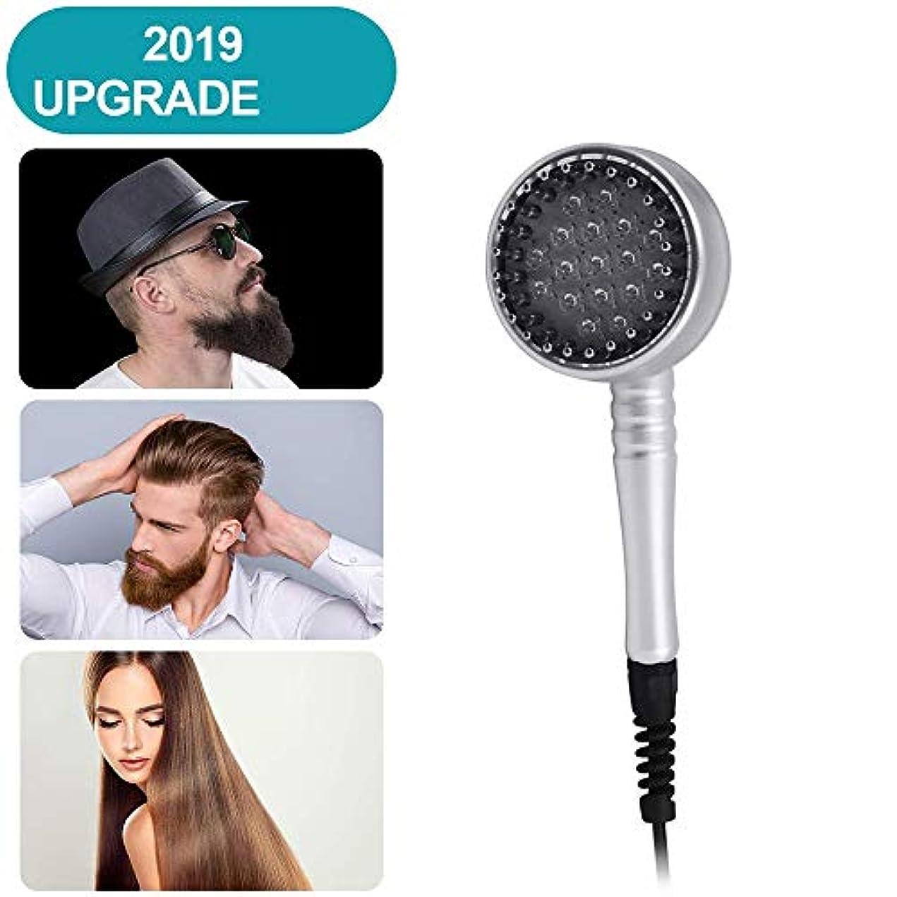 多年生怠マイルド毛の成長くし、男性&女性のための赤外光や振動セラピー、再成長髪のマッサージブラシ付き電動発毛くし