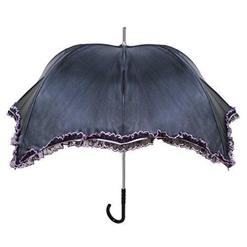 【正規輸入品】 ディチェザレ デザイン パンプキン パラソル インティマ 全2色 長傘 手開き 日傘/晴雨兼用 ブラック 10本骨 40-50cm グラスファイバー骨