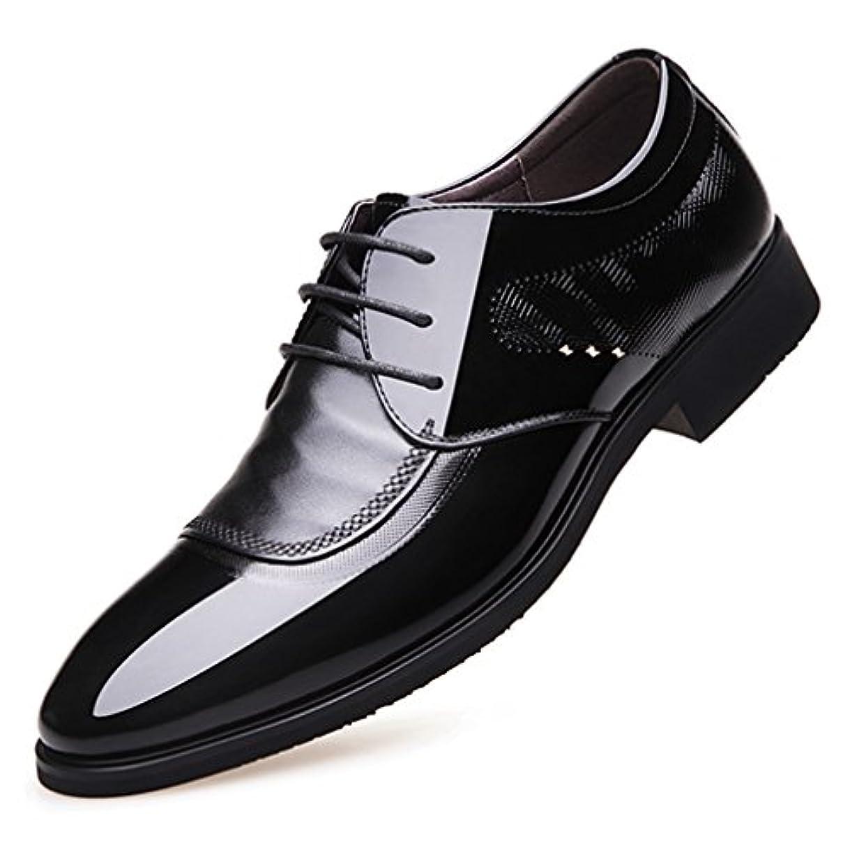 シネウィバリケード割り当てるビジネスシューズ メンズ 紳士靴 靴 PU革靴 本革並 歩きやすい 紳士靴 通勤 軽量 防滑 カジュアル 歩きやすい フォーマルシューズ 24.0cm 24.5cm 25.0cm 25.5cm 26.0cm 26.5cm...