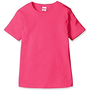 (ユナイテッドアスレ) UnitedAthle 5.6ozハイクオリティTシャツ ガールズ 500103 511 トロピカルピンク G-M