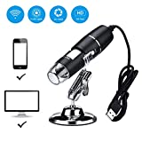 Wireless Digital Microscope,XVZ 0X to 1000x Microscope Magnifier,Mini Pocket Handheld Microscope Camera with Light Compatible for iPhone Android,ipad Windows Mac